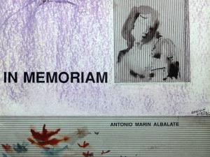 Antonio Marín Albalate 'In memoriam'