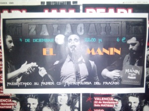 Cartel concierto Manin
