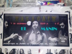 Cartel concierto Manin'