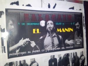 Cartel concierto Manin''