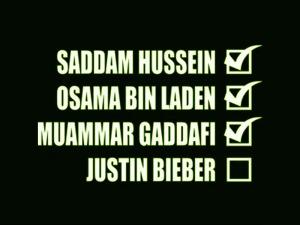 Falta Justin Bieber