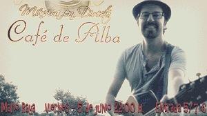 Mario Raya en el Café de Alba'